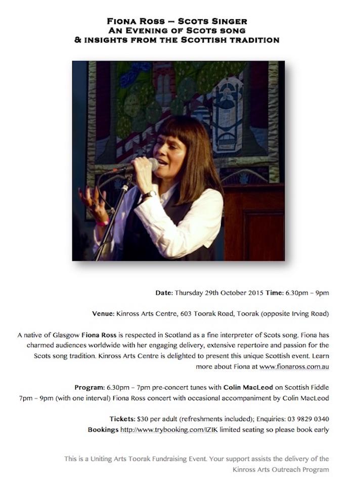 Fiona Ross Concert X